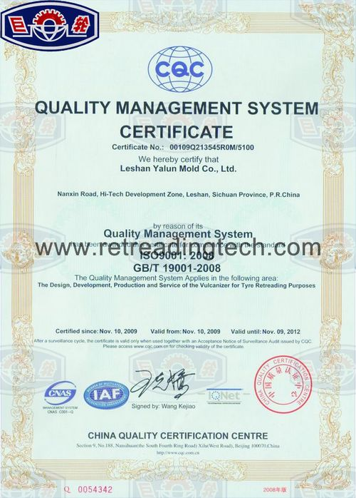 The ISO9001 Quality Management System