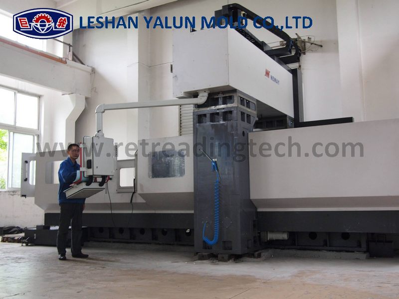 Our CNC machining center for processing giant OTR tire mold